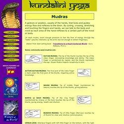 Kundalini Yoga - Mudras or Gestures.