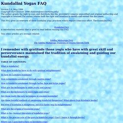 Kundalini Yogas FAQ