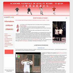 Kung Fu Yi Quan >>Qu'est ce que le Yi Quan ?