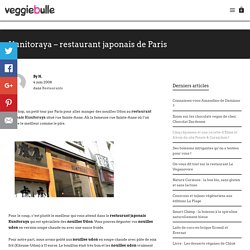 Kunitoraya - restaurant japonais de Paris - Veggiebulle