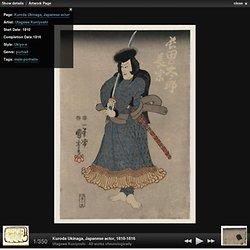 Kuroda Ukinaga, Japanese actor - Utagawa Kuniyoshi