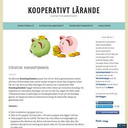 Struktur: Kunskapsbanken – Kooperativt Lärande