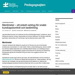 Mentimeter - ett enkelt verktyg för snabb kunskapskontroll och bedömning - Pedagogsajten Familjen Helsingborg