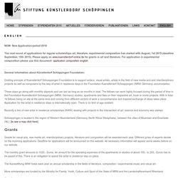 English - Stiftung Künstlerdorf Schöppingen