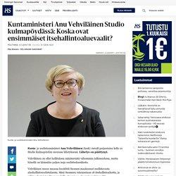 Kuntaministeri Anu Vehviläinen Studio kulmapöydässä: Koska ovat ensimmäiset itsehallintoaluevaalit? - Studio Kulmapöytä - Politiikka