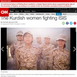 The Kurdish women fighting ISIS