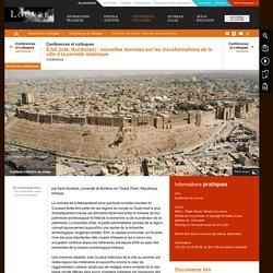 Erbil (Irak, Kurdistan): nouvelles données sur les transformations de la ville à la période islamique