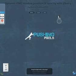 dynamic PNG shadow position & opacity - by Daniel Kurdoghlian