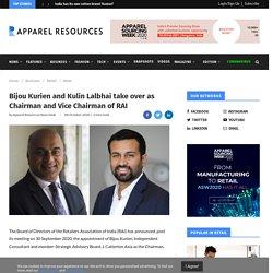 Bijou Kurien and Kulin Lalbhai take over as Chairman and Vice Chairman of RAI