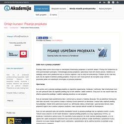 Onlajn kursevi: Pisanje projekata - iAkademija
