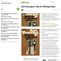 Kurt Vonnegut's Tips for Writing Fiction