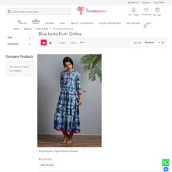 Blue Kurtis: Buy Blue Women Kurtis Collection Online