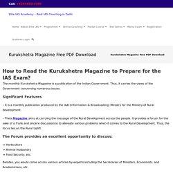 Kurukshetra Magazine Free Download