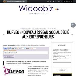 Kurveo : nouveau réseau social dédié aux entrepreneurs