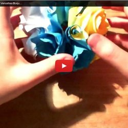 Dude's Daily Origami - Kusudama Versailles/Buquet Di Rose (Tutorial In Italiano)