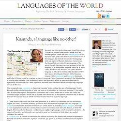 Kusunda, a language like no other?