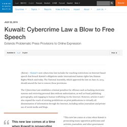 Kuwait: Cybercrime Law a Blow to Free Speech