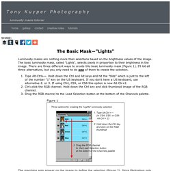 "Tony Kuyper Photography—The Basic Mask—""Lights"""