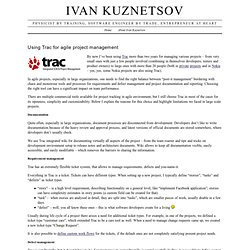 Ivan Kuznetsov › Using Trac for agile project management