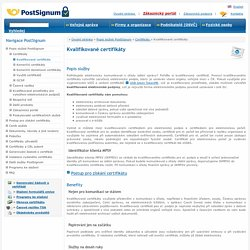 Certifikační autorita PostSignum