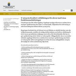U 2013:02 Kvalitet i utbildningen för elever med vissa funktionsnedsättningar