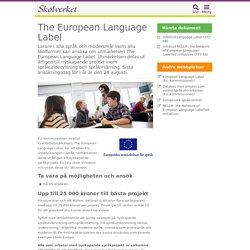 European Label - Kvalitetsutmärkelse för språkundervisning