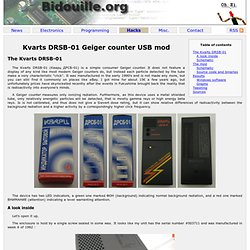 Kvarts DRSB-01 Geiger counter USB mod - Bidouille.org