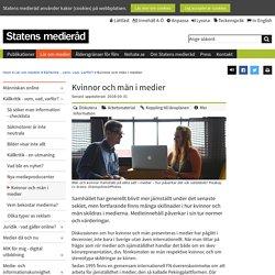 Kvinnor och män i medier - Barn, unga och medier