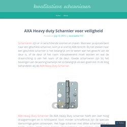 AXA Heavy duty Scharnier
