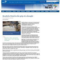 KwaZulu-Natal in the grip of a drought:Friday 26 September 2014