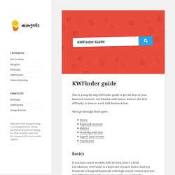 KWFinder Guide - mangools blog