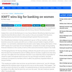 KWFT wins big for banking on women