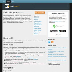 Kwicks for jQuery