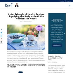 What Can the Kyäni Triangle of Health Do for You? - Kyani Webstore