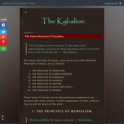 The Kybalion: The Seven Hermetic Principles