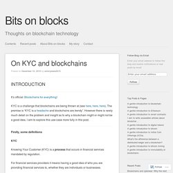 On KYC and blockchains