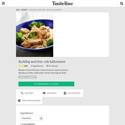 Kyckling med feta- och halloumiost - Recept - Tasteline