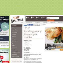 LCHF Kycklinggratäng dijonsenap & basilika - LCHF Gourmet