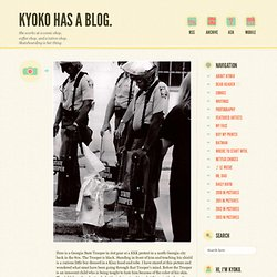 Here is a Georgia State Trooper in riot gear at a... | Kyoko has a blog