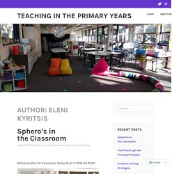 Eleni Kyritsis – Teaching in the Primary Years