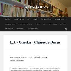 L.A «Ourika» Claire de Duras – Espace Lettres