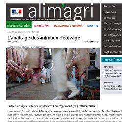 L'abattage des animaux d'élevage