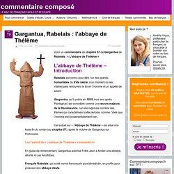 L'abbaye de Thélème : analyse