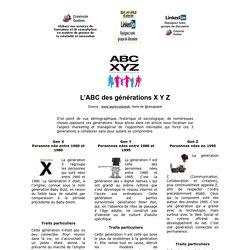 L'ABC des générations X Y Z