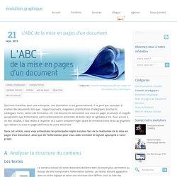 L'ABC de la mise en pages d'un document
