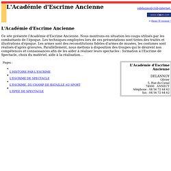 L'Académie d'Escrime Ancienne