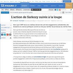 Action de Sarkozy suivie à la loupe - Le Figaro - Politique