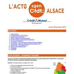 L'Actu du Sgen-CFDT Alsace