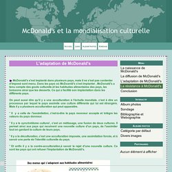 L'adaptation de McDonald's