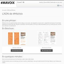 L'ADN de #MaVoix – Ma Voix